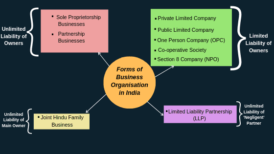 Forms of Business organisation in India